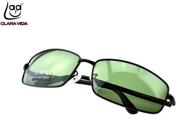 = = CLARAVIDA 2017 Masculino MONTURA COMPLETA lentes de Polarización polarizado TAC Mejora NEGRO cuadrado verde de conducción pesca gafas de sol