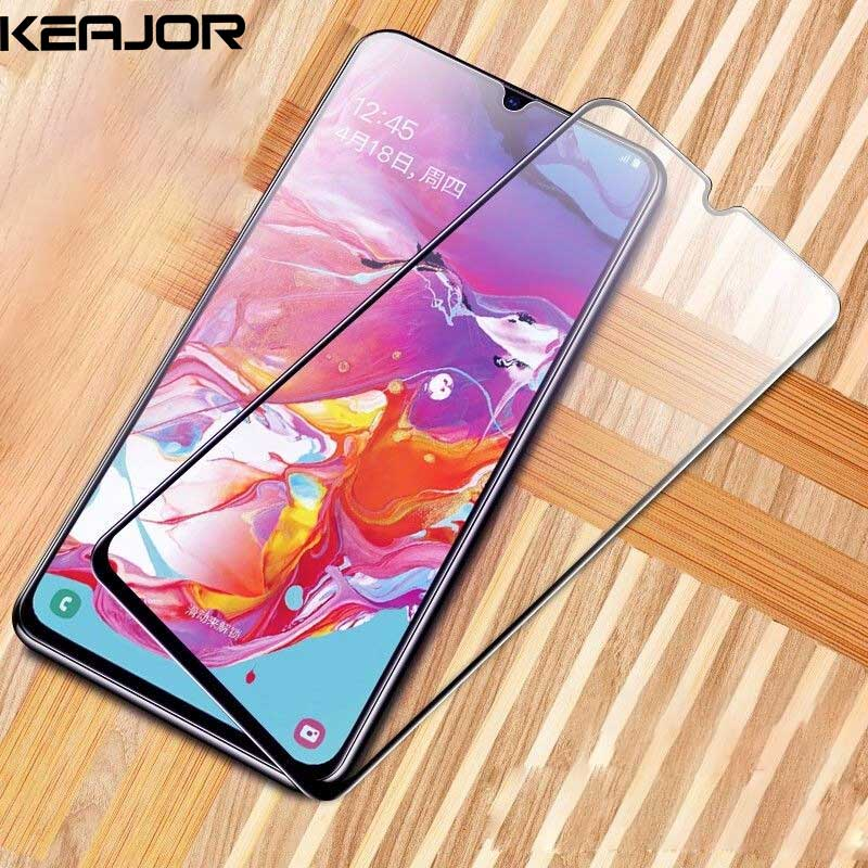 Keajor Tempered Glass For Samsung galaxy a70 Glass Flim 9H Anti Scratch Fully Cover Screen Protector Film For Samsung galaxy a40 in Phone Screen Protectors from Cellphones Telecommunications
