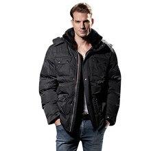 Зимняя мужская куртка, Толстая теплая Высококачественная Мужская хлопковая куртка, модное пальто, куртка, больше размеров XL-XXXL 4XL