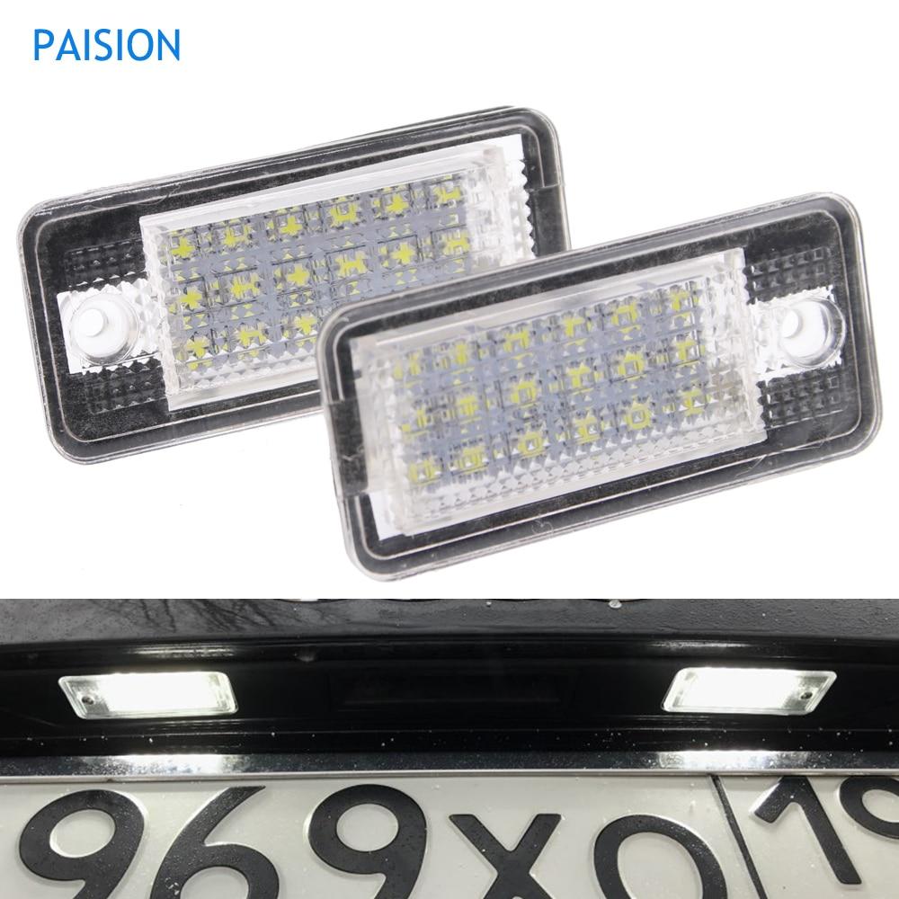 Audi White LED Number License Plate Light Lamp A4 S4 B6 B7 RS4 8E 8H Error Free
