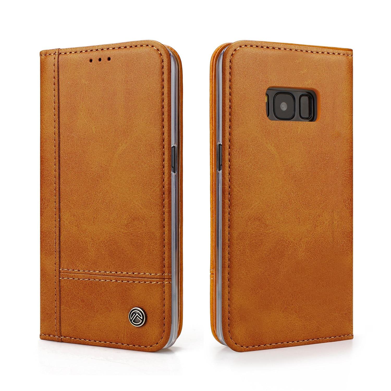 Magnetisk lommebok lær flip telefonveske til Samsung Galaxy