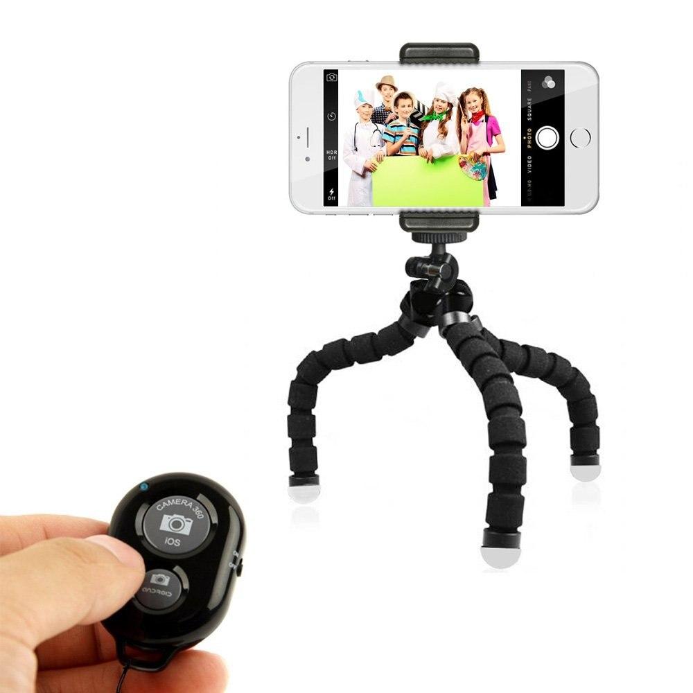 Soporte en trípode de teléfono compatible con todos los teléfonos inteligentes incluso iPhone