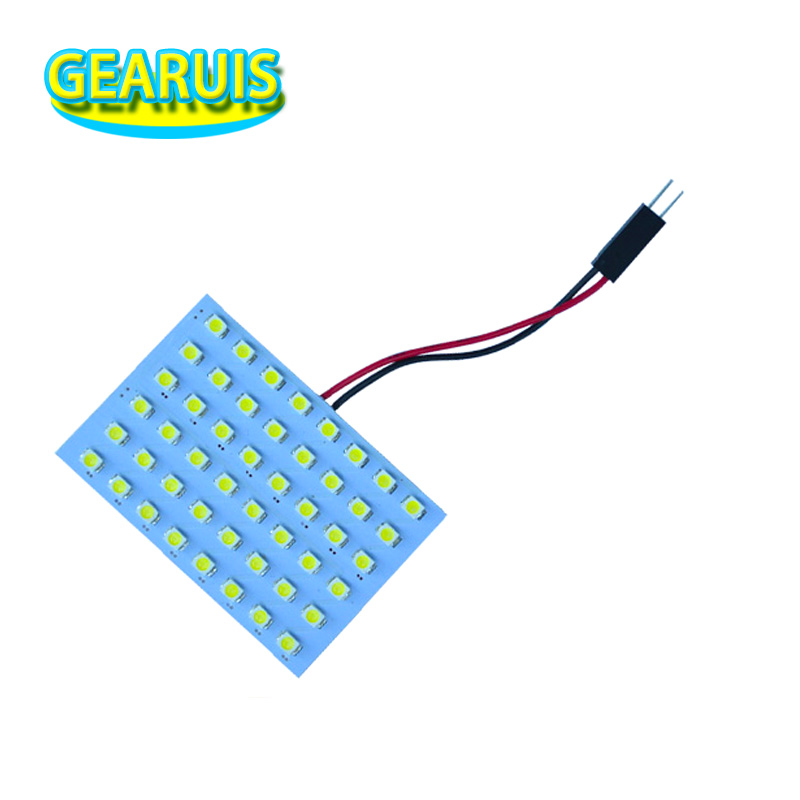 Dome Panel Light T10 Ba9s Festoon 48 SMD 1210 3528 LED Car Interior Map Roof Reading Working light 12V White Blue 2 Adapters-in Signal Lamp from Automobiles & Motorcycles    1