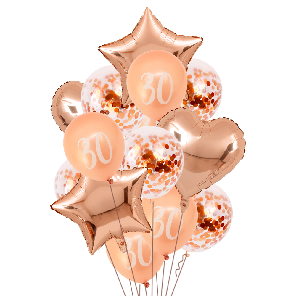 rose gold number <font><b>birthday</b></font> balloons <font><b>18th</b></font> 20th 21st 30 40th 50th <font><b>birthday</b></font> balloon <font><b>birthday</b></font> party <font><b>decorations</b></font> number print globos image