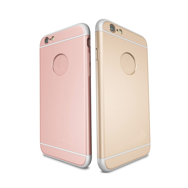 Rose Gold 360 Degree Protection Skin for iPhone 6 Matting PC iPhone Case for  Apple iPhone 6S Ultra Slim Phone Back Cover c1c4aa75927dd