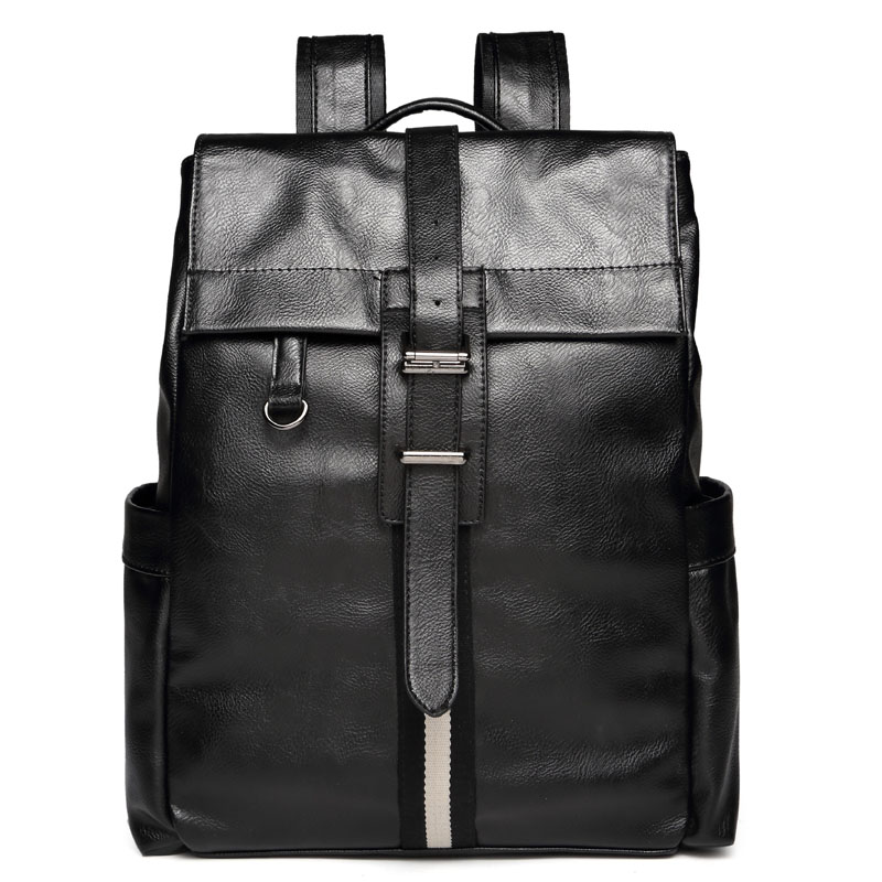 f7dc0ec8b0 Haute qualité en cuir hommes grand sacs à dos adolescent haute collège  école étudiants sacs à dos célèbre marque bande designer Haute capacité