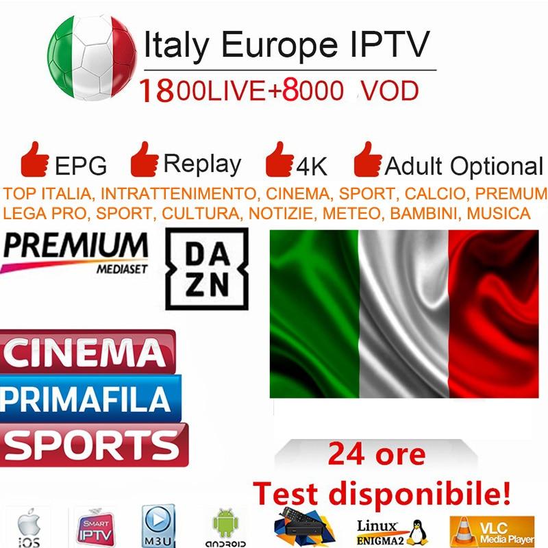 Inteligente IPTV Italia M3U HD Dazn Premium Da Mediaset HD 2000 Vidas 8000 + Esportes VODs APK Alemão Itália REINO UNIDO Espanha lista de reprodução para Smart TV
