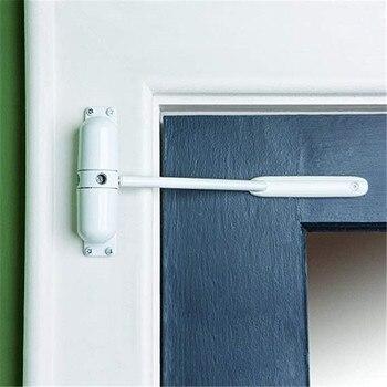 20-70KG Weiß Zink Alloy Einstellbar Oberfläche Montiert Automatische Frühling Schließen Tür Näher Feuerschutz Tür Stopper Tür hardware