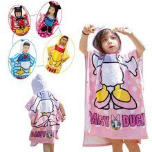 Детские Мультяшные полотенца, пляжные полотенца, Детские хлопковые банные халаты, Детские Солнцезащитные полотенца против холода, Детские многоцелевые Банные полотенца