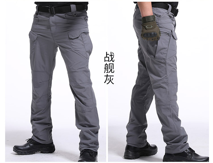 2019 Tactical Pants Military Cargo Pants Men Knee Pad SWAT Army Airsoft Solid color Clothes Hunter Field Combat Trouser Woodland