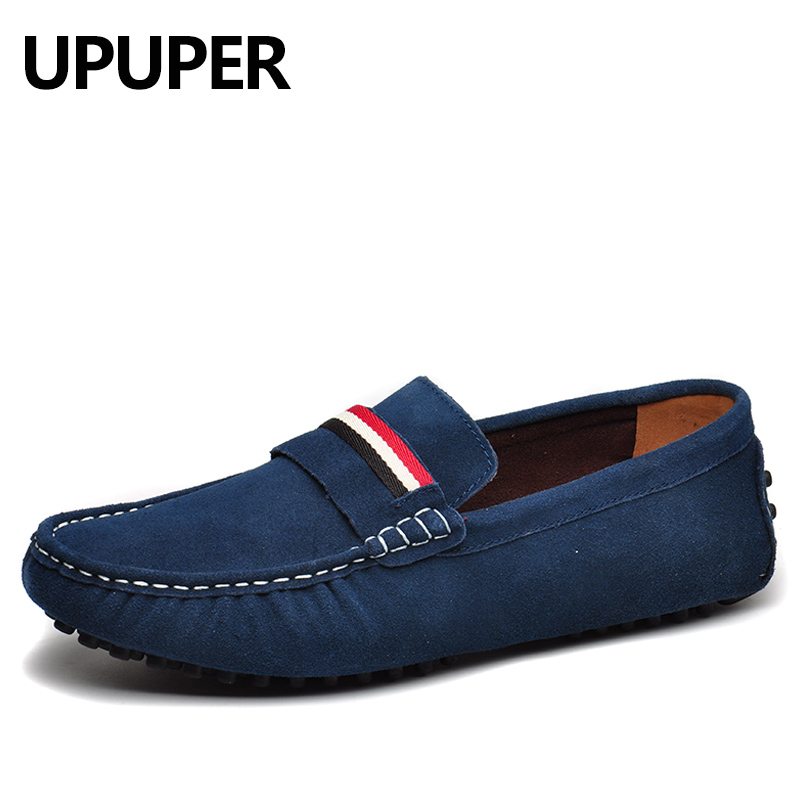 UPUPER Brand Large Sizes 38-50 Cow Suede Leather Loafers Men , Casual Mens Shoes Summer Style Soft Moccasins for Men cbjsho brand men shoes 2017 new genuine leather moccasins comfortable men loafers luxury men s flats men casual shoes