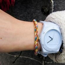 1b53cc847259 Mcllroy encanto pulseras de cuero trenzado macrame hecho a mano brazaletes  vintage de encaje de moda par de la joyería de la pul.