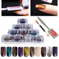 Set 3D Effect Cat Eye Magnet Powder Dust UV Gel Polish Magic Mirror Nail Art Glitter Pigment Chrome Decoration DIY Tool Manicure