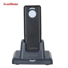 Scanhome мини беспроводная 433 2d/1d/qr сканер штрих-кода ручной считывания штрих-кода с зарядным & приемник базы