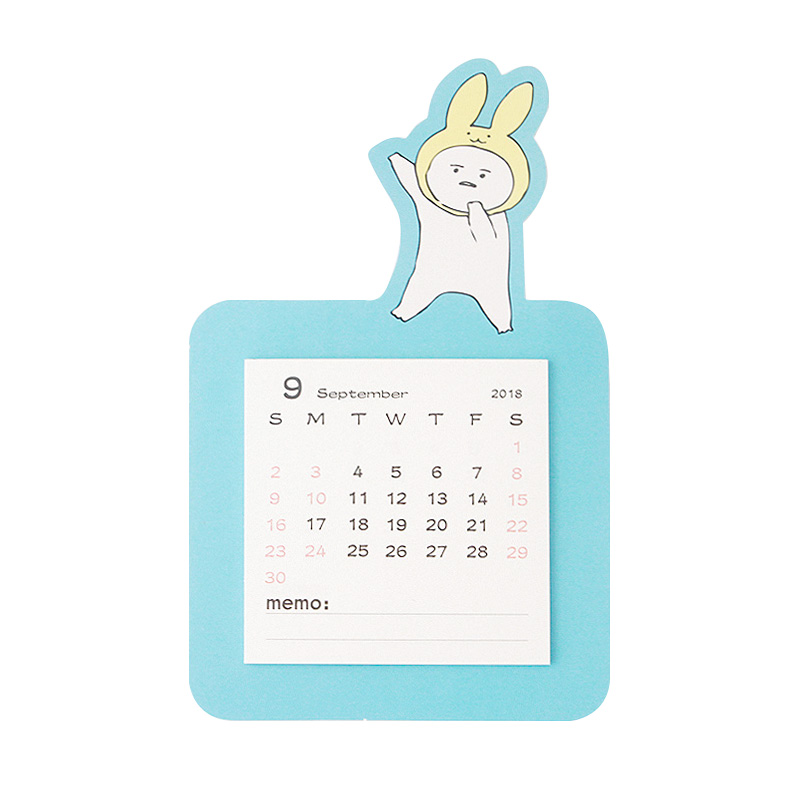 1pc Magnet Creative Tearable Sticky Note 2018.9-2019.12 Schedule Desk Calendar Weekly Planner Memo School Office Stationery