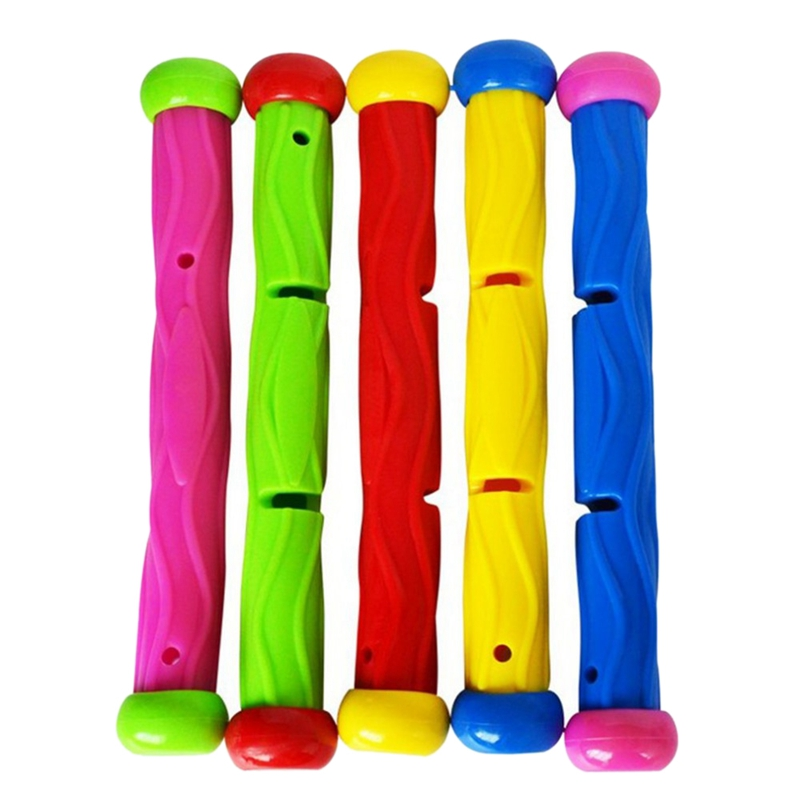 5 Pcs Multicolor Diving Stick Toy Underwater Swimming Diving Pool Toy Under Water Games Training Diving Sticks