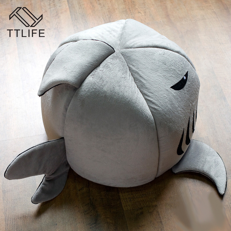TTLIFE 2 Size Pet Products Warm Soft Dog Puppy Winter House Pet Sleeping Bag Shark Dog Kennel Cat Bed Cat House