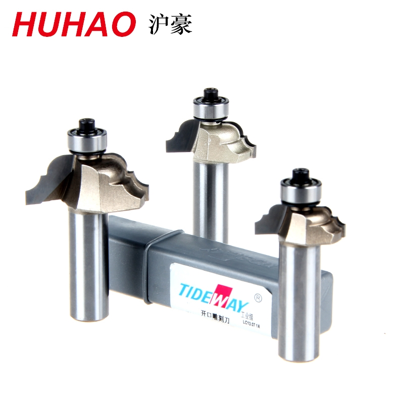 Huhao 1/2*3/8 Roman Ogee Router Bit Set Carbide End Mills Cutter Chamfering Woodworking Router Bits Milling Cutter Tideway 2892 high grade carbide alloy 1 2 shank 2 1 4 dia bottom cleaning router bit woodworking milling cutter for mdf wood 55mm mayitr