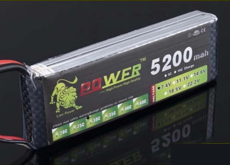 2 unids/set Original de 7,4 V 5200 MAH modelo 2 s de la batería de 7,4 V 5200 MAH 25C León de polímero de litio batería #145mm envío gratis