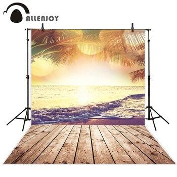 Allenjoy Летний морской фон для фотосъемки bokeh пляж кокосовое дерево эстетический природный пейзаж фон профессиональная фотосъемка