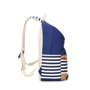 College Striped Women Backpack Daily Book Bags Fringe Bagpack 15.6 inch Computer Student Bag for Teenagers Girls 1