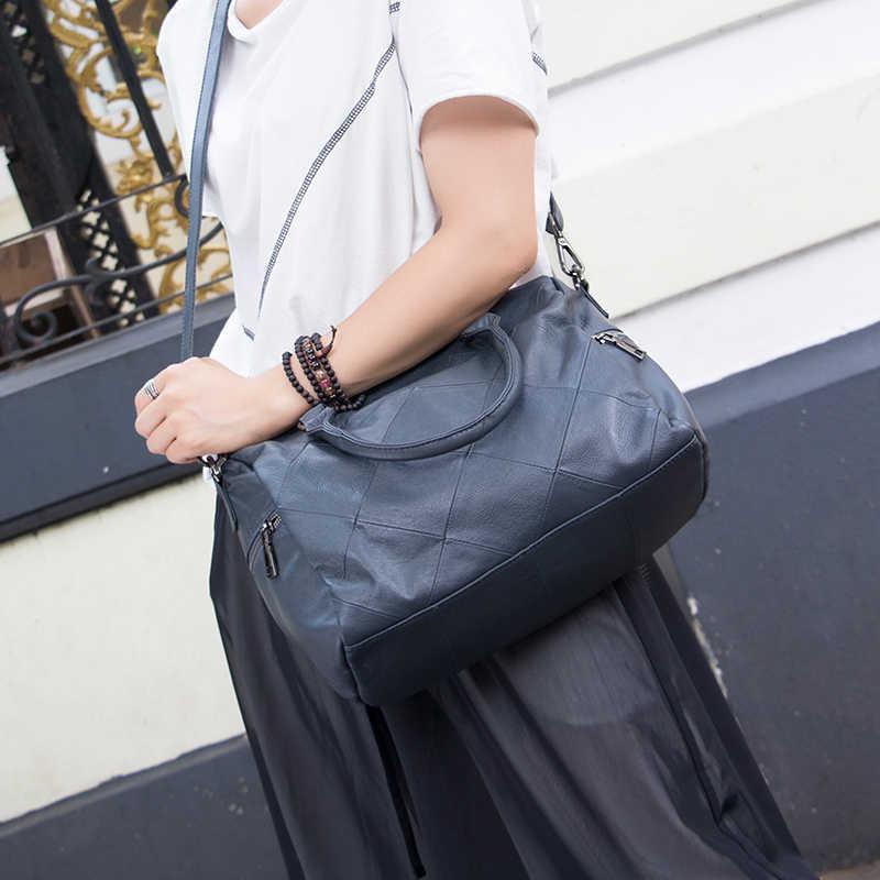 2019 marca o Verão As Mulheres Mensageiro Sacos 100% Genuíno Bolsas De Couro Das Mulheres Bolsas de Alta Qualidade Sacos de Ombro das senhoras da pele de Carneiro