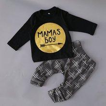 Новорожденных маленьких детей комплект одежды для мальчика Одежда для маленьких мальчиков Модная одежда для маленьких детей, малышей Bebe комплект От 0 до 2 лет год C6275