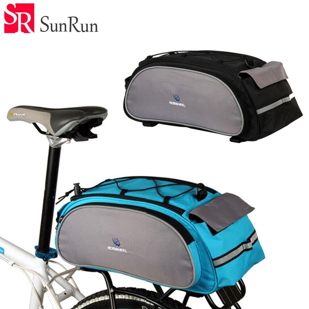 Roswheel Bicycle Back Seat Bag Rear Pack Mountain Road MTB Bike Cycling Bags Rack Trunk Carrier Shoulder Handbag Messenger 13L