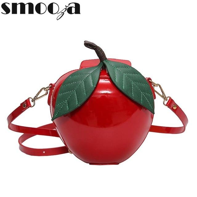 Sacs Marque Smooza Sac Femmes Mignon Bandoulière Apple Célèbre Rouge cFlJ1TK3