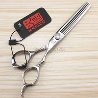 6 0Inch Kasho Thinning Scissors Professional Salon Human Hair Thinning Scissors 1pcs Fashional Hair Tool