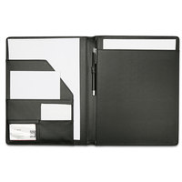 A4 Writing Pads Clipboard PU Leather Business Financial School Plastic With Name Card Slot For Office School Supplies 1678 Black