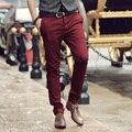 Moda 2016 Nova Alta qualidade Casual calças da carga Dos Homens de inverno de negócios projeto calças de algodão homens calças compridas calças de Fábrica por atacado