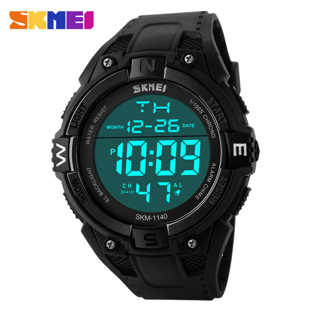 2017 Relogios Masculinos Outdoor Sports Watches Men LED Digital Watch Multifunction Men's Wristwatches Fashion Big Dial Black