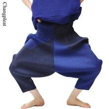 Miyak Changpleat 2017 kobiety harem spodnie Miyak plisowana wysokiej talii Oversize spodnie luźne w pasie nowe spodnie dla kobiet Plus rozmiar kobiet