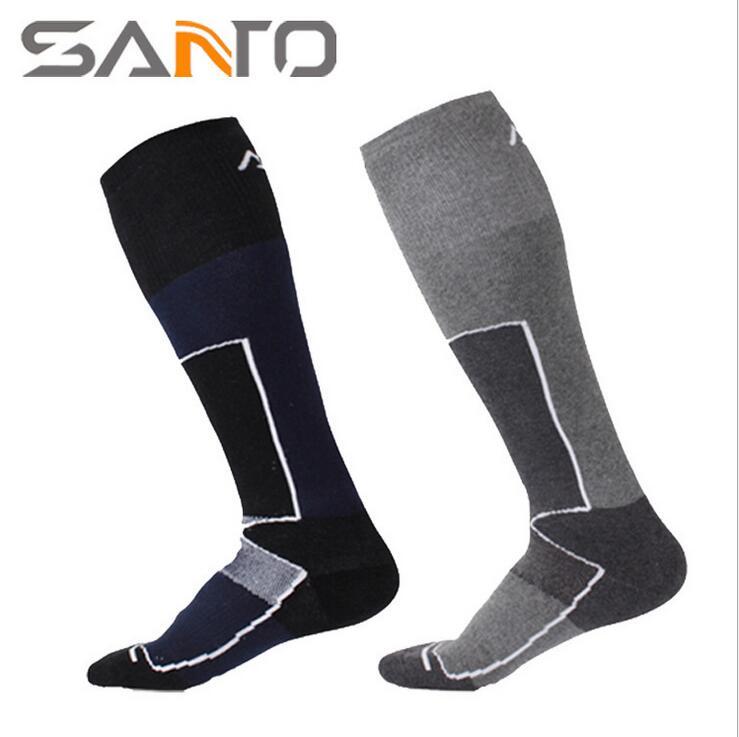 SANTO Brand SANTO Brand Men / women quick drying thick outdoor long skiing socks COOLMAX socks Winter Warm Socks s023 S024