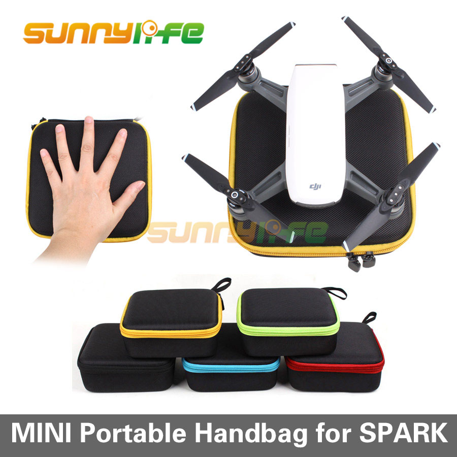 Mini Drone Storage Bag Portable Handheld Bag Travel Carrying Case for DJI Spark Camera Drone Battery Remote Controller