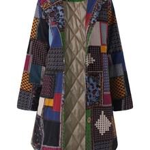 Women Winter Warm 2019 Hooded Thicken Vintage Long Button Vi