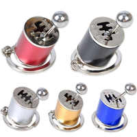 6 Speed Manual Transmission Gear Keychain Lever Metal Key Rinf Car Refitting Metal Pendant keychain