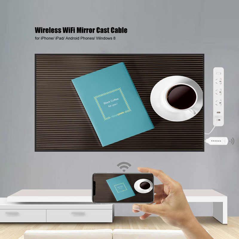 لاسلكي واي فاي مرآة يلقي كابل ل MHL إلى HDMI محول 1080P HDTV محول HDMI كابل آيفون لسامسونج أندرويد ويندوز