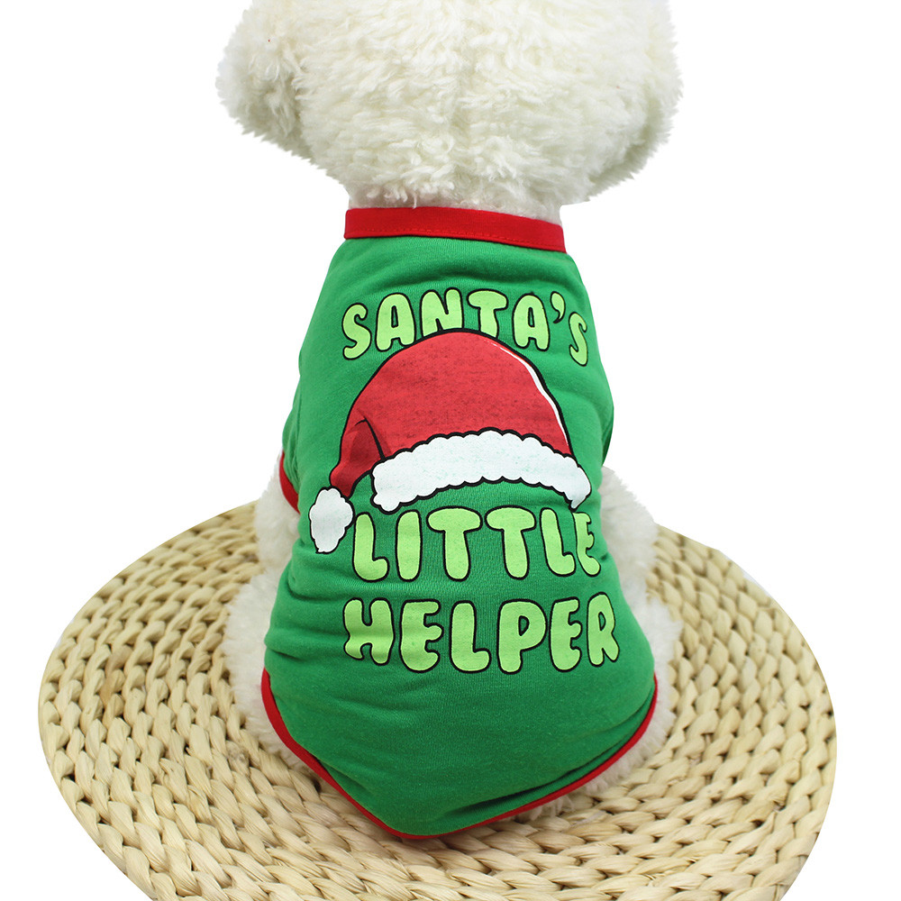 Christmas Dog Clothes For Small Dogs Cute Santa Puppy Dog Vest Outfit Pet Clothing For Chihuahua French Bulldog Ropa Perro