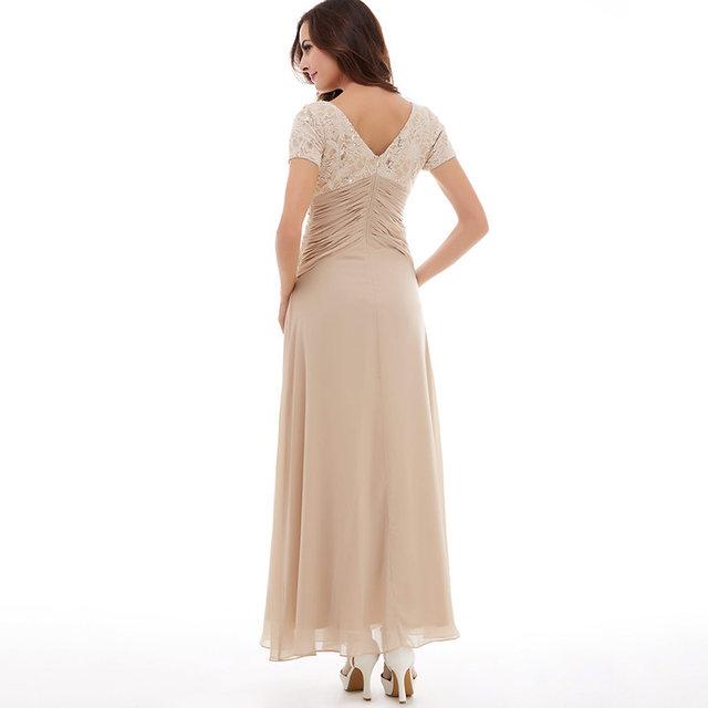 Tanpell sexy v neck abito da sera nobile regency senza maniche pavimento  lunghezza di una linea lady abito di promenade della festa nuziale da sera  lungo ... 909b62e874c