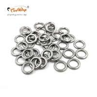 Novo produto 100 pces/b anel de pesca sólido aço inoxidável anel isca de pesca acessórios isca de pesca acessórios 304 material