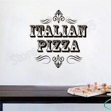 YOYOYU Quotes ITALLIAN PIZZAA Pattern Wall Stickers Restaurant Logo Kitchen Vinyl Decor Pizza Shop Modern Creative Mural ZW373