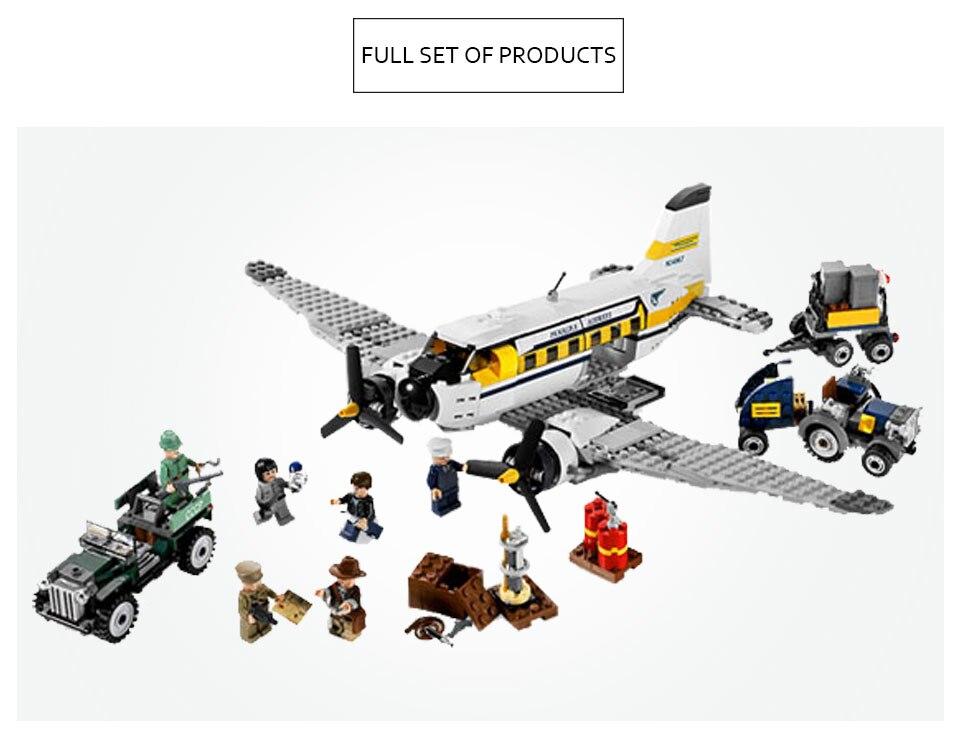 31003 créateurs aventures de l'indiana Jones Jones pérou modèle blocs de construction briques jouet Compatible avec Legoing