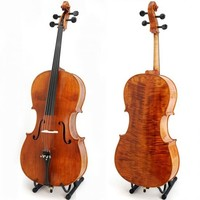 Free Shipping New 4 4 Size Professional Cello With Pernambruco Bow Rosin And Soft Bag