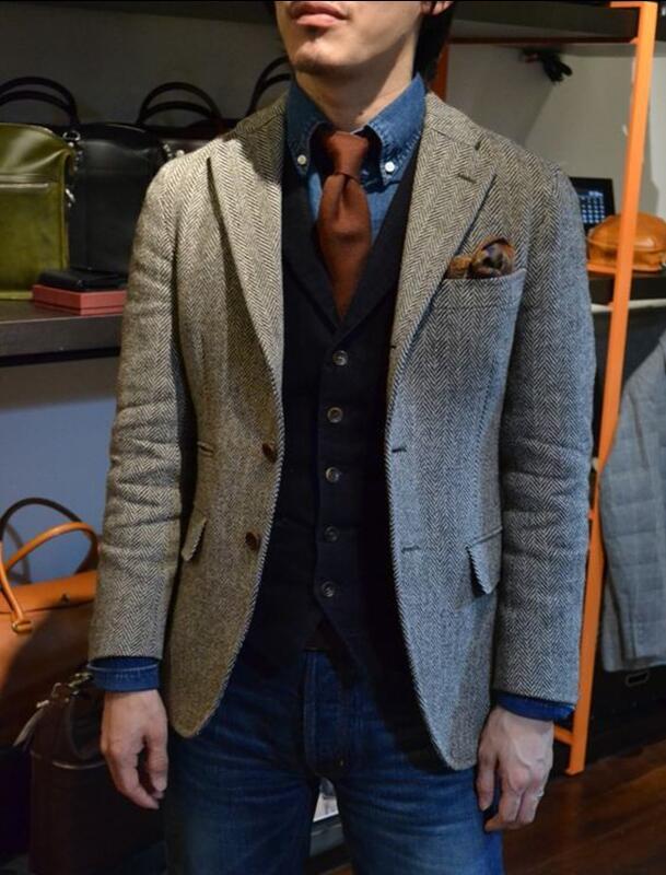 tweed jaquetas blazer masculino jaqueta lazer negócio
