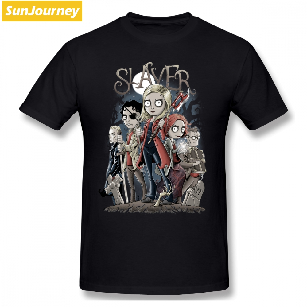 Buffy The Vampire Slayer Men T Shirt New Leisure Oversize Cotton Crewneck Short Sleeve T Shirts