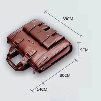 New Luxury Split Leather Business Men\'s Briefcase Male Shoulder Bag Men\'s Messenger Bag brand Tote Computer Handbag