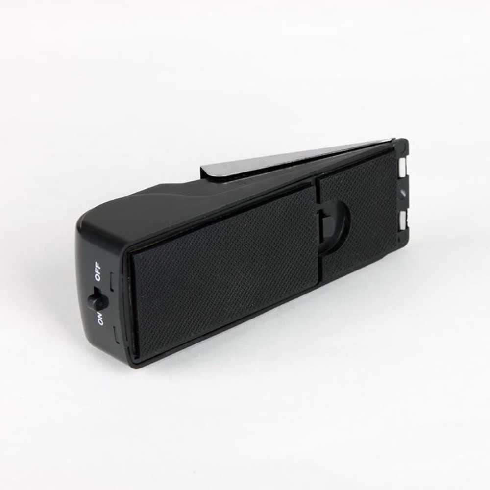 Mini alarma de Tope de puerta activada por vibración inalámbrica cuña de Casa tope moldeado sistema de alerta de seguridad bloqueo sistema de bloqueo negro