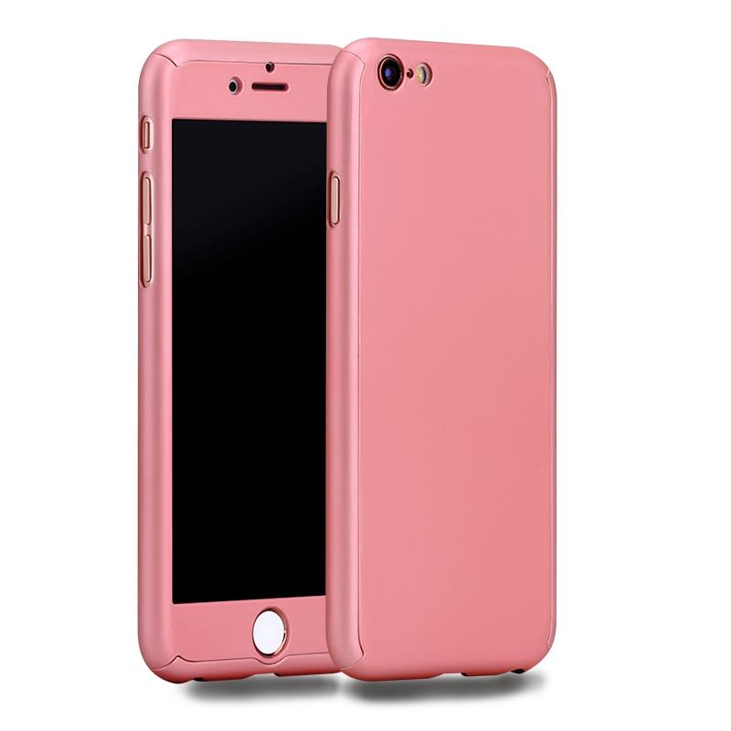 b70fcb4f877 Nueva funda híbrida 360 completa Ultra fina Capa para iphone XR Xs MAX X 10  8 8 plus 7 funda para teléfono 7 plus 6 6 s Plus + Vidrio Templado en ...